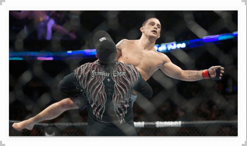 Фрэнки Эдгар поднялся в октагоне UFC